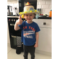 Harry made a brilliant Spring Bonnet!