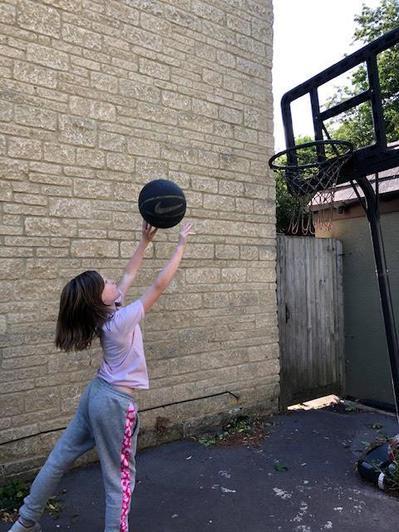 Ebony's amazing ball skills...