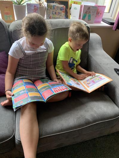 Jacob is teaching his big sister!!