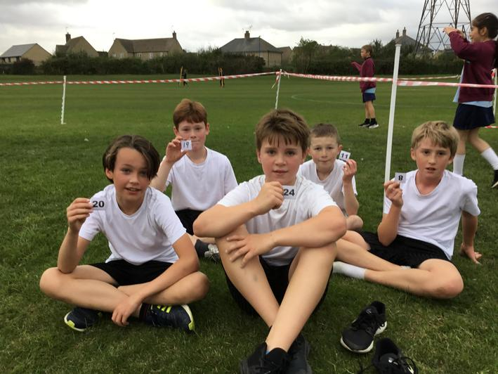 Year 6 boys - recovering after a hard race