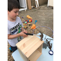 Louis making a bug house