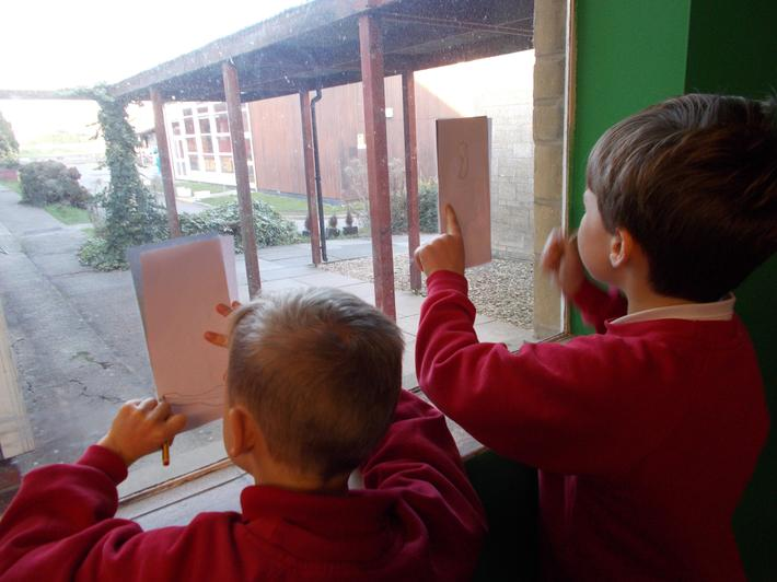We used the daylight to help us trace!