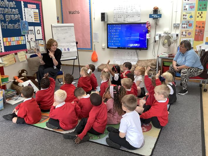Our phonics session.