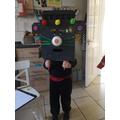 Percy made a fantastic robot!
