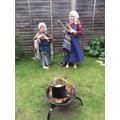 Preparing a Viking meal