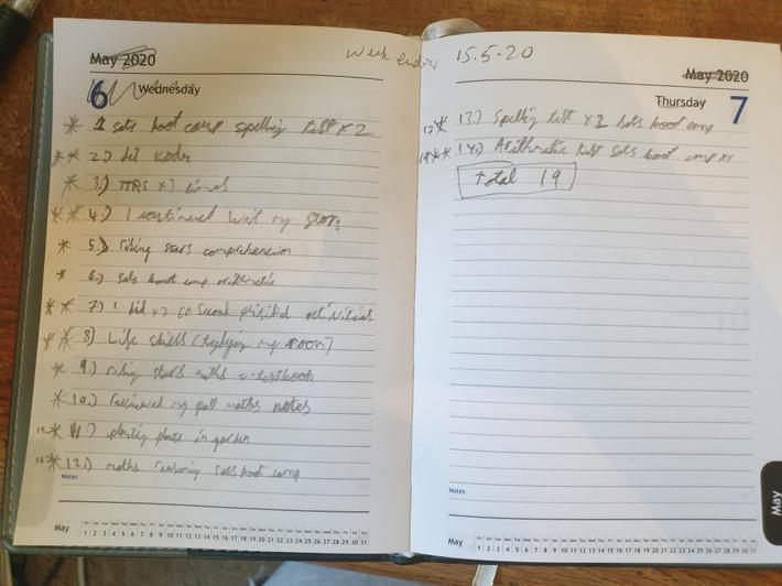 Daniel's week 2 star log