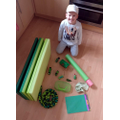Jacob found his green objects, well done!