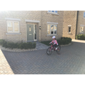 No stabilisers!! Well done Emily!!!