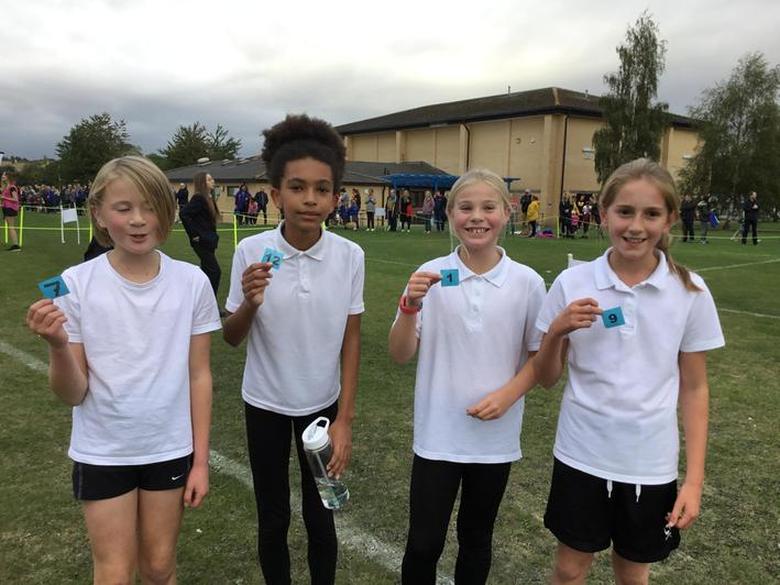 Year 6 girls - 1st place and what a team!