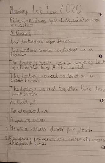 Jayden's writing