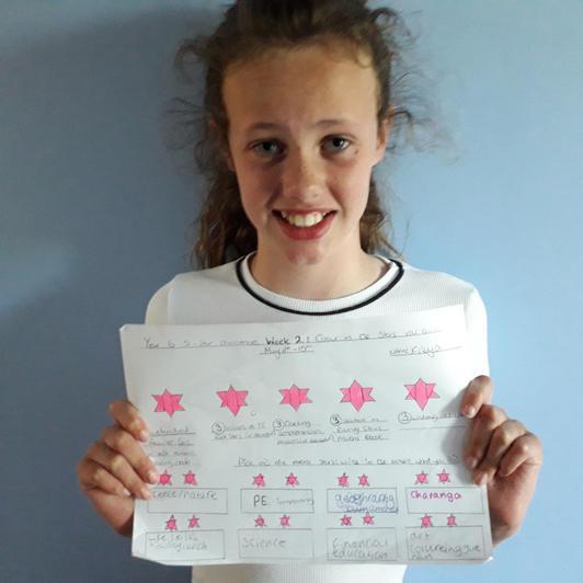 Freya's home-made star-chart