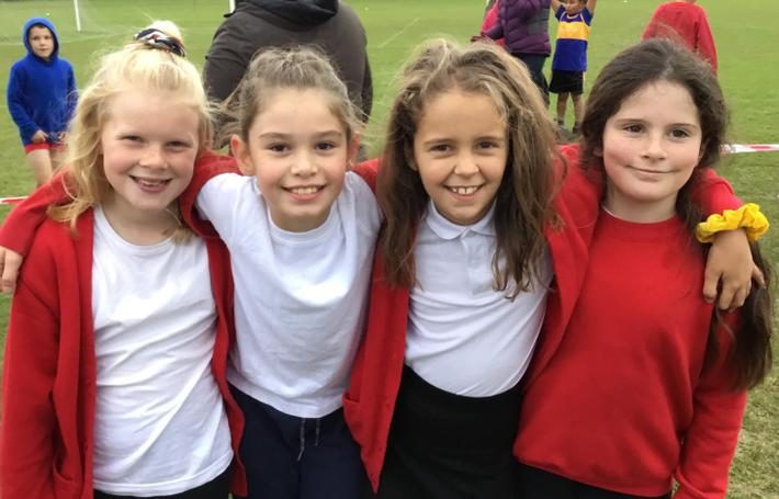 Year 5 girls - just after the race!