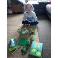 Harriet found her green objects