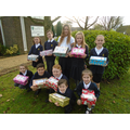 School Councillors with just some of the boxes