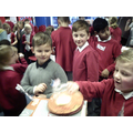 Year 1 enjoying their space tour.