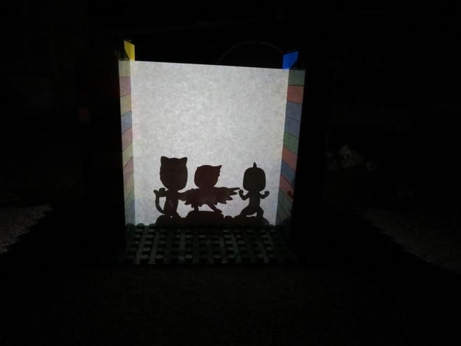 A super shadow puppet show!