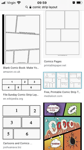 Look online for comic layout ideas to copy.