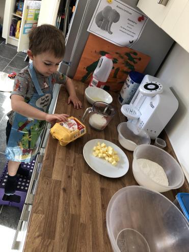 Alex baking!