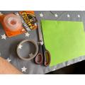 3) Paper, scissors, sticky tape or glue