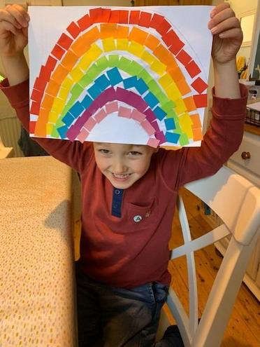 A rainbow of hope! What a good idea.