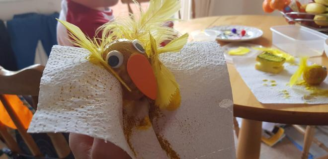 We added a beak and let it dry.