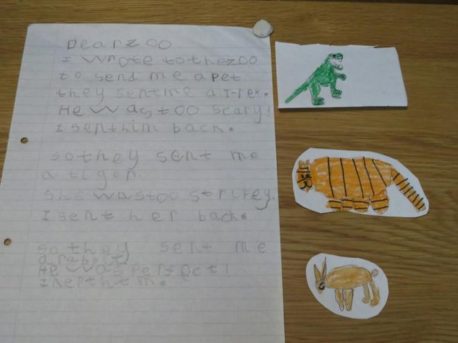 A fantastic version of Dear Zoo!
