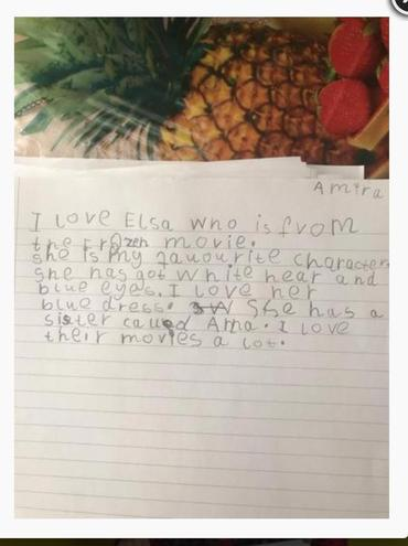 Amira wrote about her favourite characters.