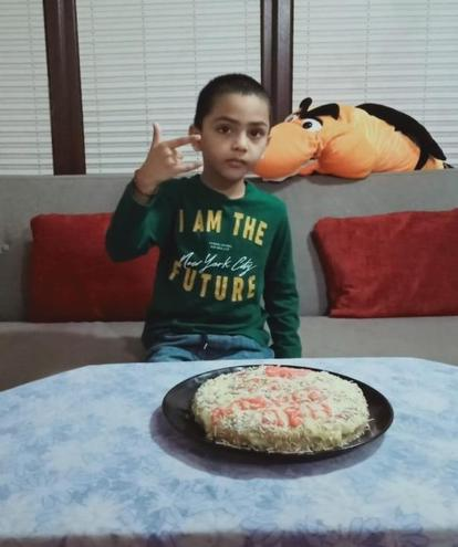 Dhruv made his own birthday cake!