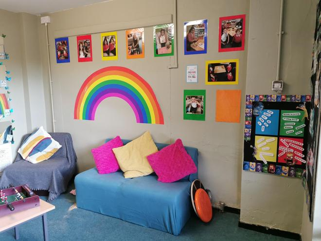 A quiet space for children away from the busy classroom.