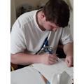 Jordan perfecting his handwriting!
