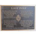 Last Post plaque at Menin Gate, Ypres, Belgium