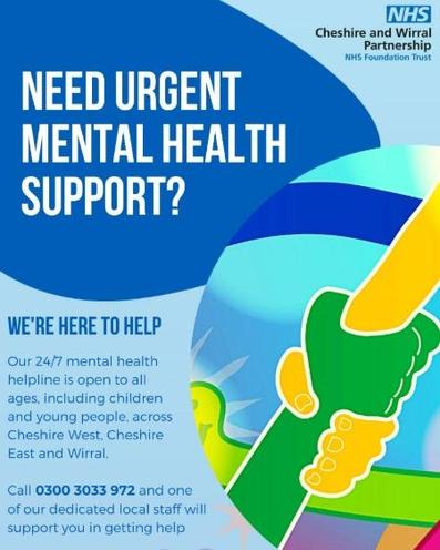 24/7 NHS Helpline Poster