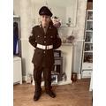 LW in full military uniform