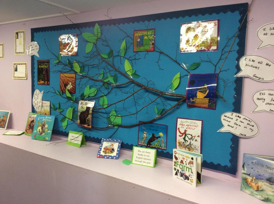 Our reading tree in the corridor