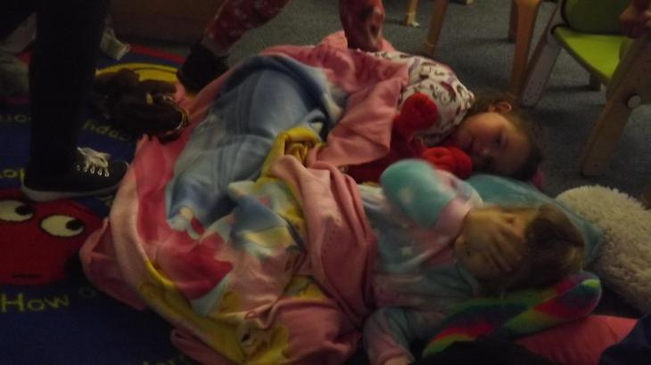 We watched a film in our PJs!