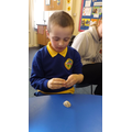 We felt the texture of different beach items.