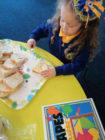 We enjoyed buttering our own bread