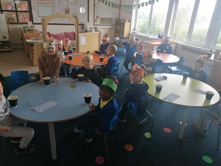 Sharing our 'homemade' soup with friends