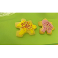 We made jigsaw piece biscuits!