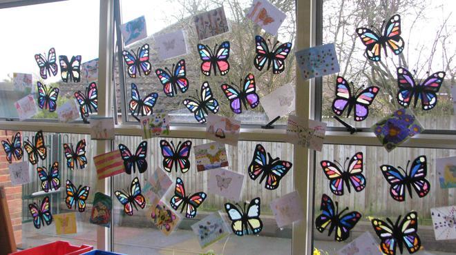Butterfly sun catchers