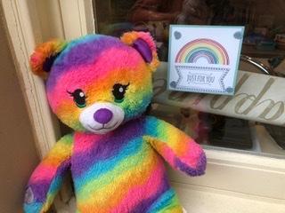 Rainbow bear has done his! Have a go!