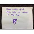 Day 14 - Dear God please keep our school safe