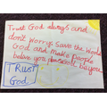 Day #42 Trust God always and don't worry.