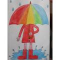 Day #48 Raining? Be someone's sunshine!
