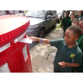 Y3 posting their carefully written letters
