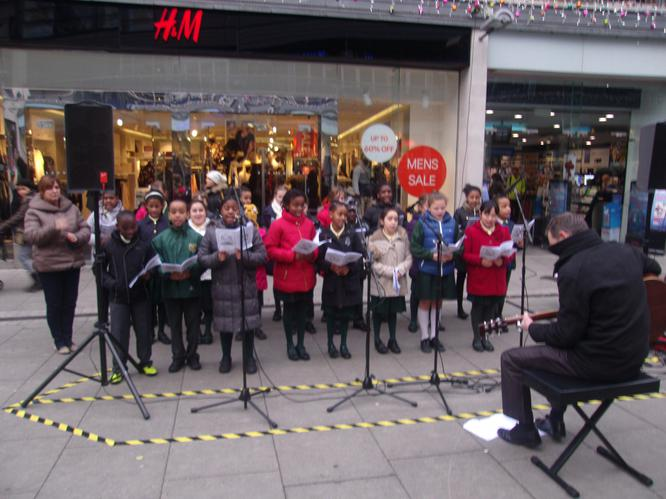 The school choir on tour!