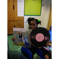 Year 1's artwork inspired by Marvin Gaye.