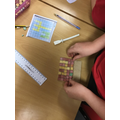 Building our Roman Mosaics very carefully!