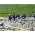 Crossing Malham's Limestone Pavement.