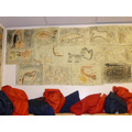 Cave paintings in the cloakroom